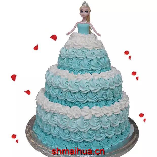 芭比蛋糕 白雪精灵
